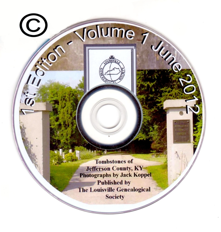DVD - Tombstones of Jefferson County, KY